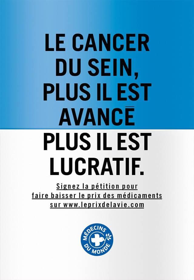 Affiche 4 de la campagne Le prix de la vie de Médecins du Monde