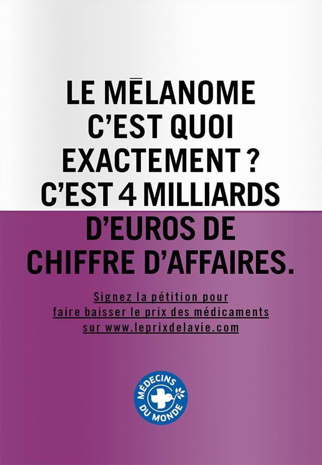 Affiche 7 de la campagne Le prix de la vie de Médecins du Monde