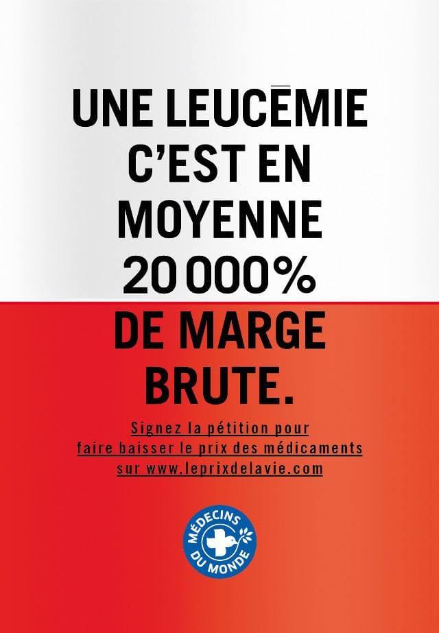 Affiche 8 de la campagne Le prix de la vie de Médecins du Monde