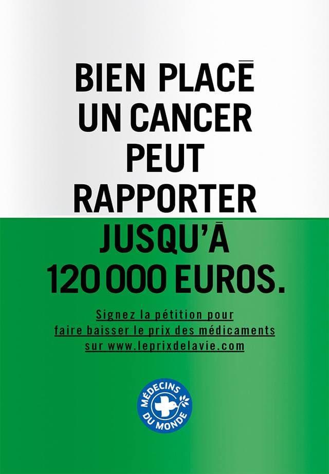Affiche 10 de la campagne Le prix de la vie de Médecins du Monde